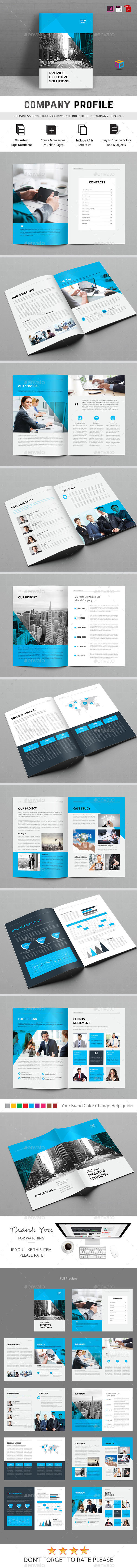 Company Profile — InDesign Template #a4 #indesign • Download ...