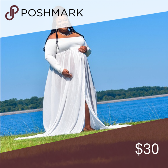 Photo of Plus Sized Sheer Maternity Photo Shoot Dress Plus Sized Sheer Maternity Photo …