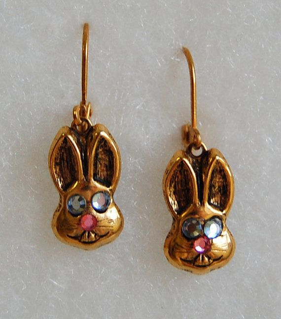 Easter Bunny Earrings by JewelryJeanne on Etsy