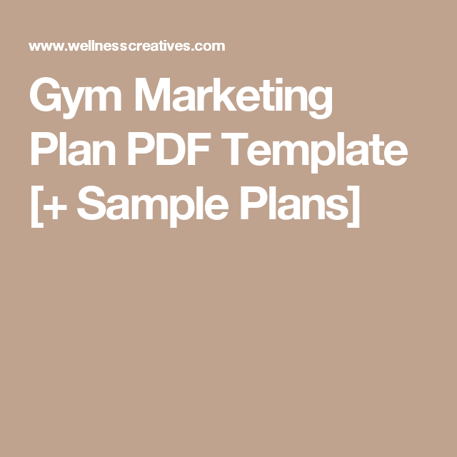 Gym Marketing Plan Pdf Template  Sample Plans  Gym