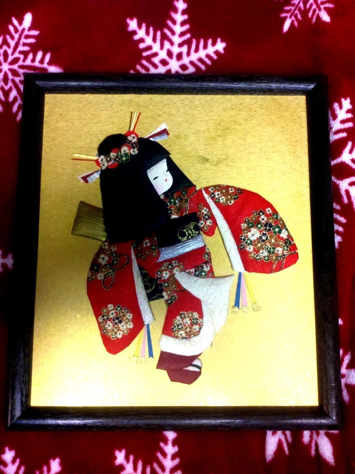 Vintage Japanese Fabric and Paper 3D Wall Dolls | eBay | Textile ...