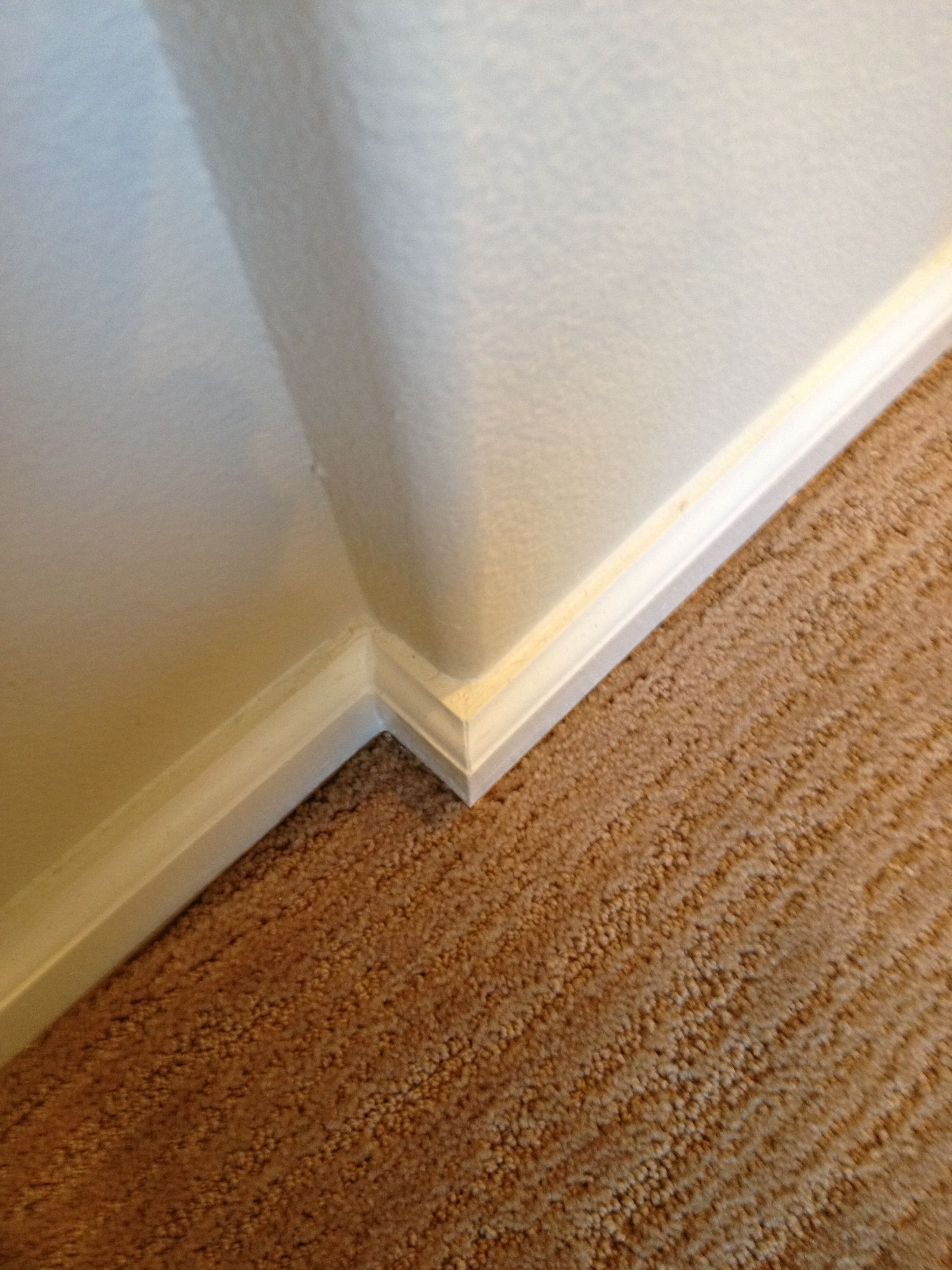Square Baseboard Rounded Bullnose Corners Baseboards