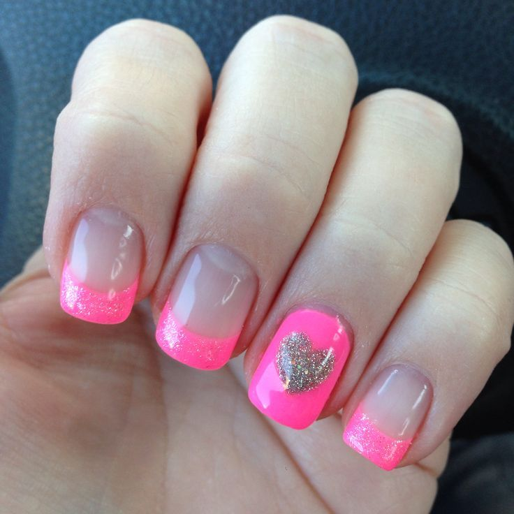 Heart Nail Designs Acrylic Nails Nail Art Design Nails
