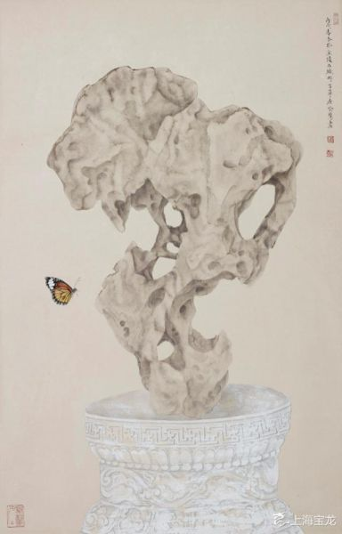 Yu Hui (B.1960) Stone Color Paper Frame Size: 87 * 56cm