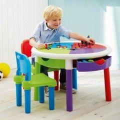 Idée cadeau enfant 3 à 8 ans : table pour jouer aux lego avec tiroir ...
