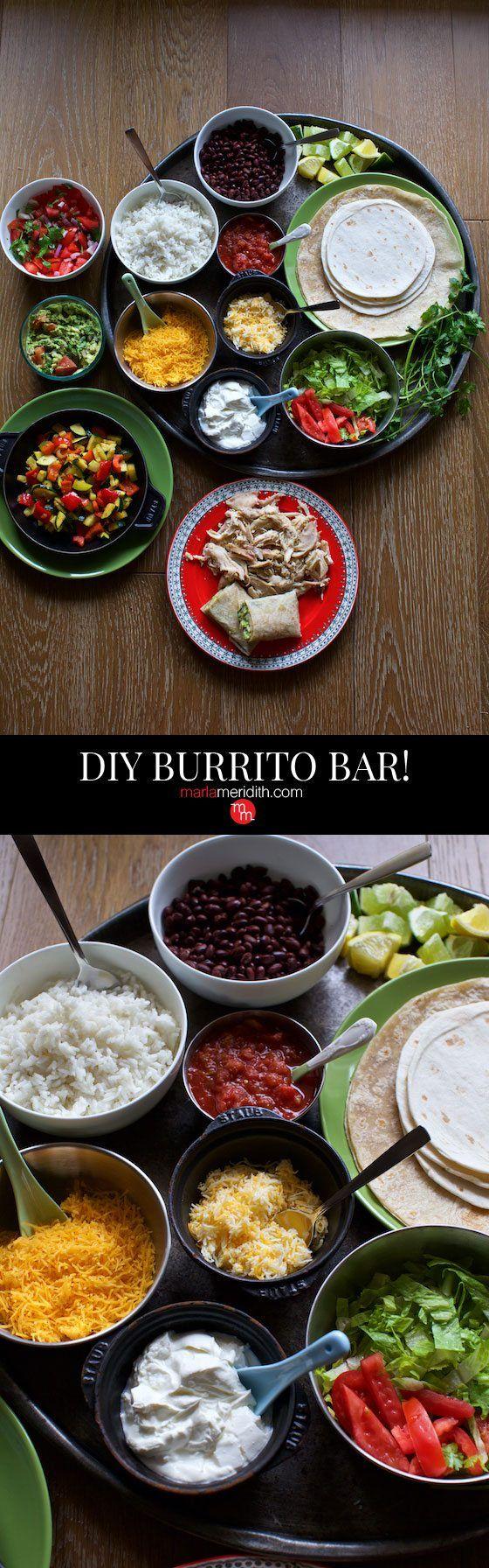 DIY Burrito Bar   Pinterest   Mexikanisches buffet, Mexikanisch und ...