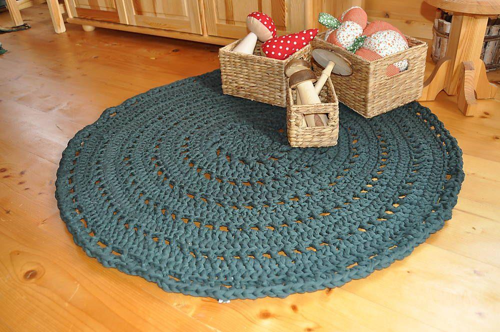 Úžitkový textil - Tmavozelený koberec - 5958276_