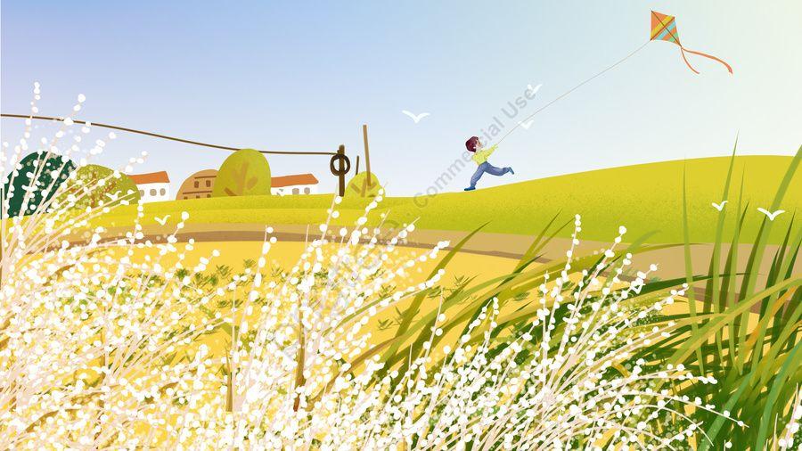 Autumn Fresh Cure Boy Field Hillside Kite, Hello November, Fly A Kite, Running Boy Illustration Image on Pngtree, Free Download on #hellonovemberwallpaper