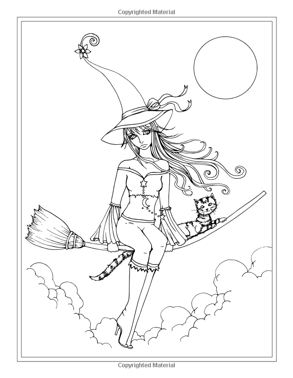Autumn Fantasy Coloring Book - Halloween Witches, Vampires and ...