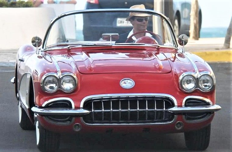 Johnny Depp driving his 1959 Corvette roadster (With images) | Gm ...