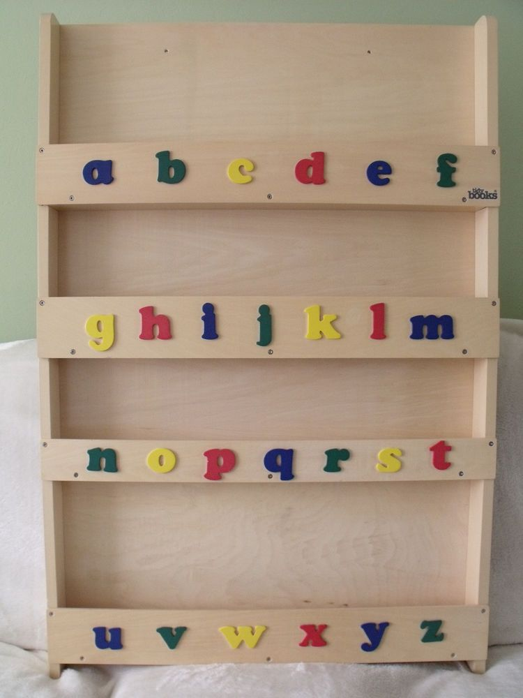Children S Tidy Books Bookcase Book Display Natural Wood