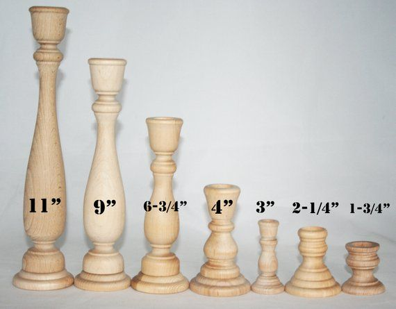 1 Candlestick Holders Unfinished Wood Diy Wedding Accents Home Decor Cake Tier Spacer Wedding Decor Candle Holders Wood Candlestick In 2020 Wood Candle Sticks Diy Candle Stick Holder Candle Sticks Wedding