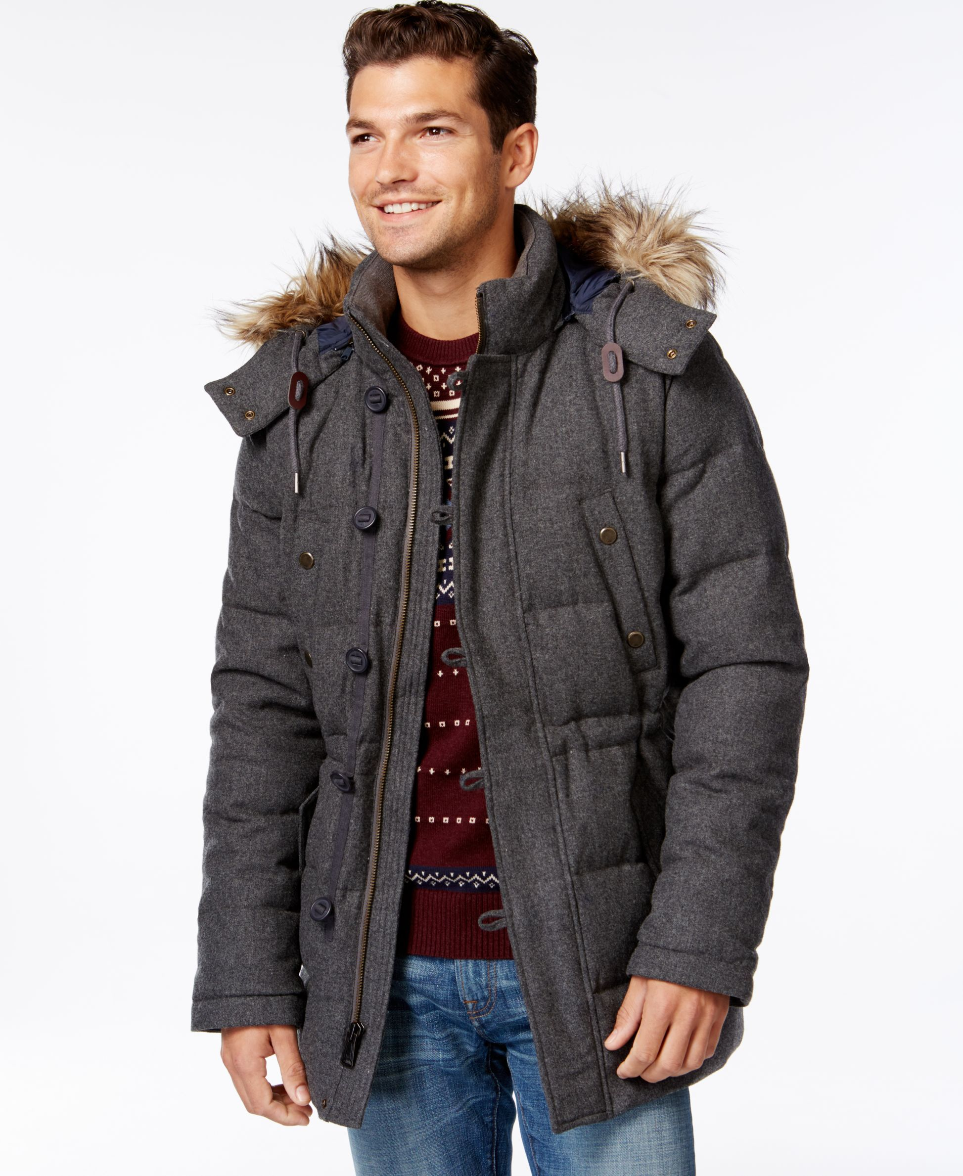 Tommy Hilfiger Mars Snorkel Quilted Faux-Fur-Trim Coat | Products ...
