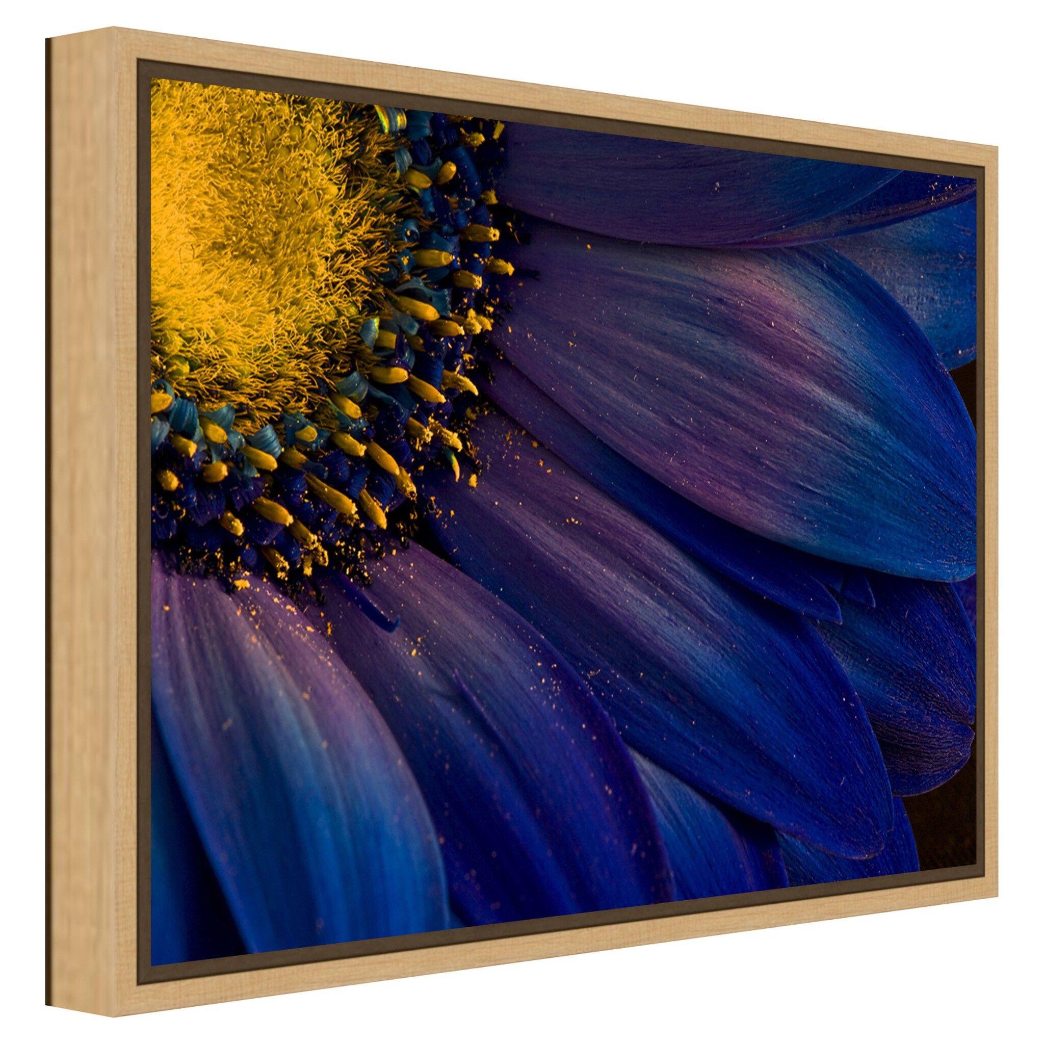 Amanti Art Blue Rays Wall Art Affiliate Art Amanti Blue Wall Em 2020 Pintura Em Tela Flores Pintura Em Tela Pintura Em Tecido