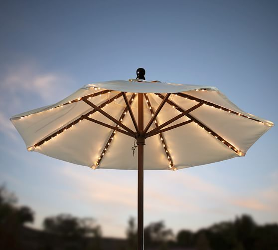 Add Some String Lights Under Your Umbrella So You Can Have The Late Night  Summer Talks