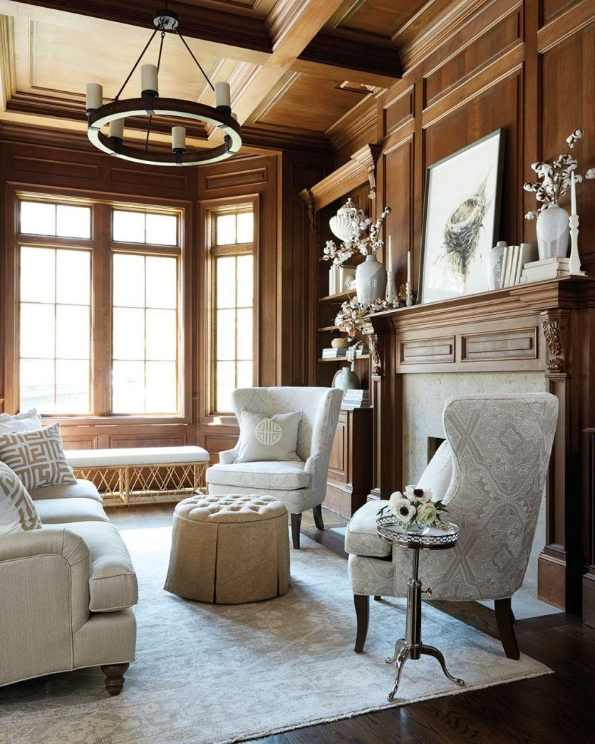 Wood Paneled Game Room: 3 Fall Fireplaces That Last Through The Holidays