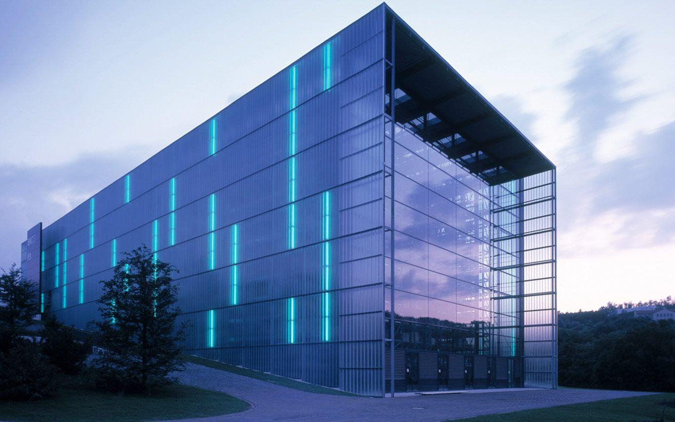 Erco Automated Warehouse Facade Facade Lighting Facade Design