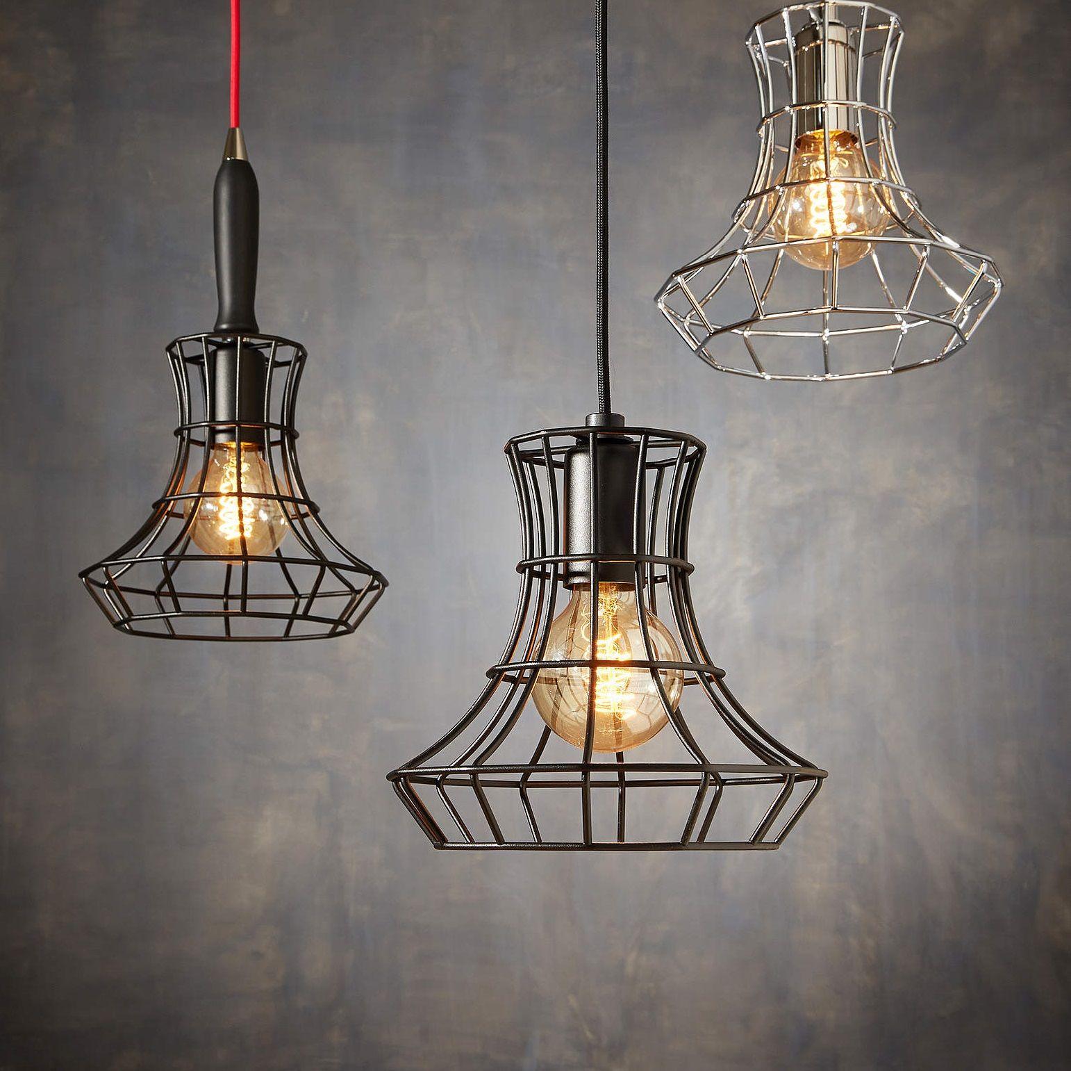 suspension lady cage noir h25cm zava ampoule deco vieilles lampes et conseill. Black Bedroom Furniture Sets. Home Design Ideas