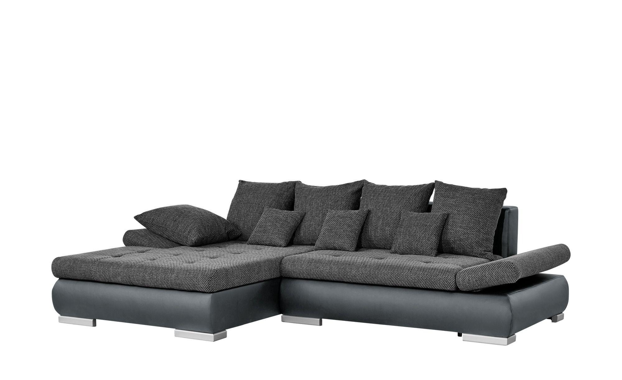 Switch Eckcouch Anthrazit Kunstleder Webstoff Ivan In 2020 Couch Eckcouch Und Kleine Kissen
