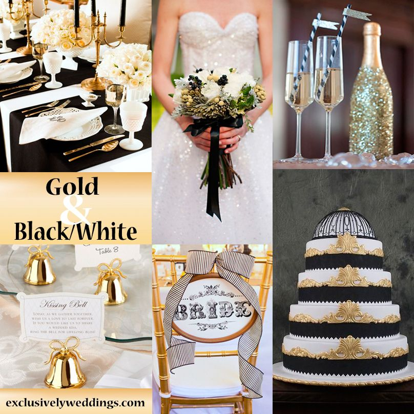 Black and White Wedding Colors Seven Glorious