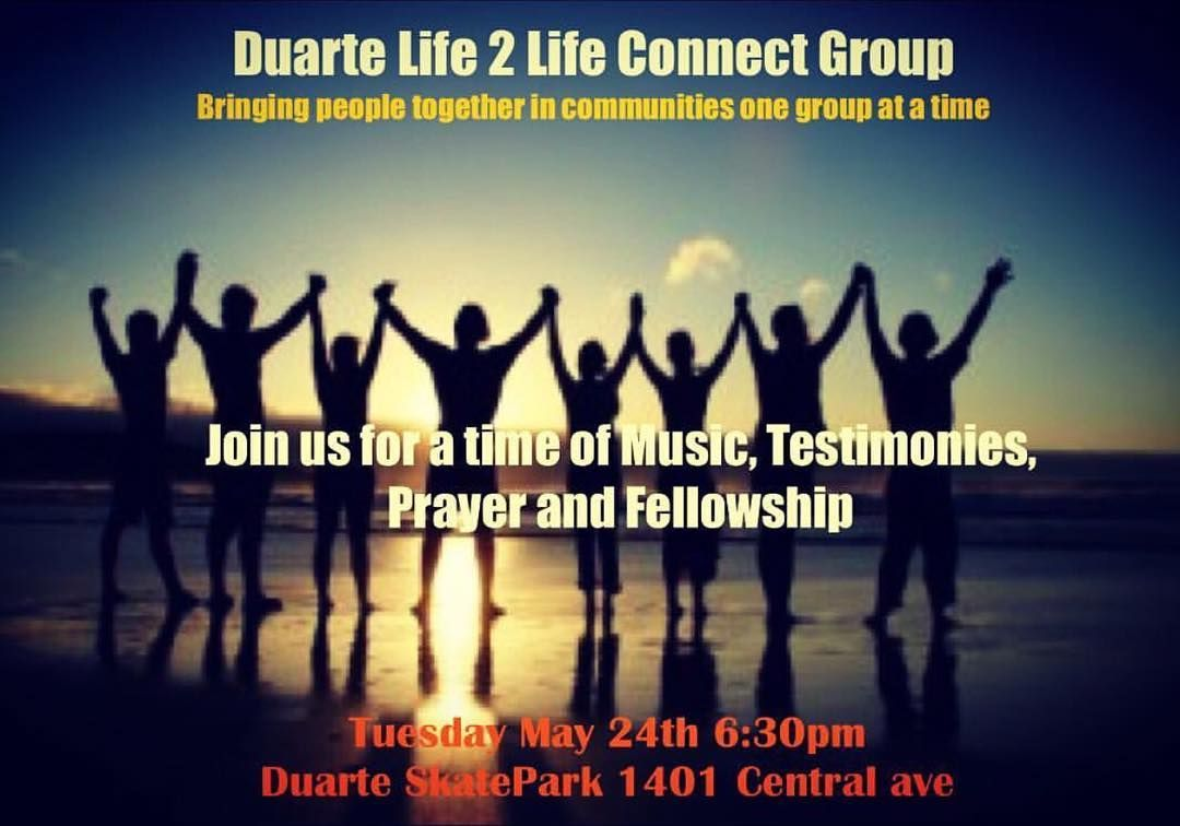 Don't miss out tonight Life 2 Life  at Duarte Skate Park @ 6:30pm. Bring a friend  #life2life #bibe #biblestudy #skatepark #skate #connectgroup #music #testimony #prayer #fellowship #pca by young_relentless_