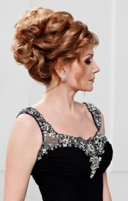 Mother Of The Bride Updo Wedding Hairdo For Clical Style