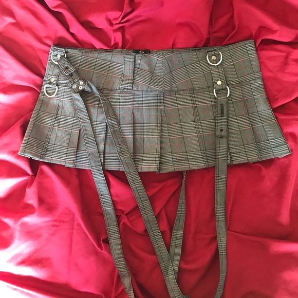 LIP SERVICE Grandpa Plaids mini skirt #46-402