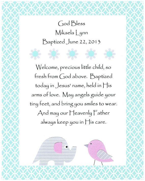 God Bless our little girl - Baptism Gift Christening Gift Baby Girl - fresh birthday invitation baby girl