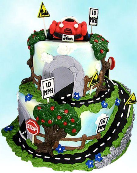 Quot Car Rally Quot Cake By Susan Carberry Front Vroom What A