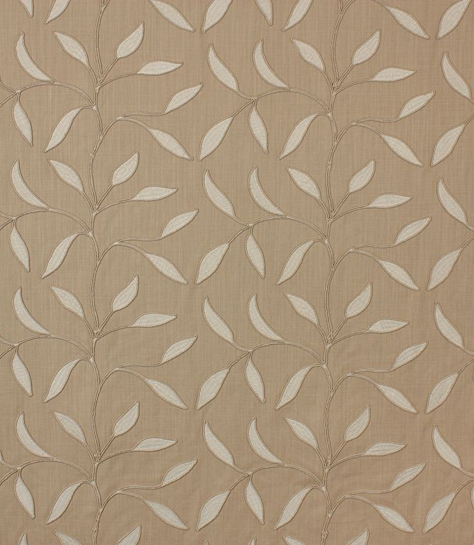 This Beautiful Linen Viscose Material Has Been Embroidered With A Trellis Of Leaves Contemporary Curtain Fabric Contemporary Fabric Upholstery Fabric