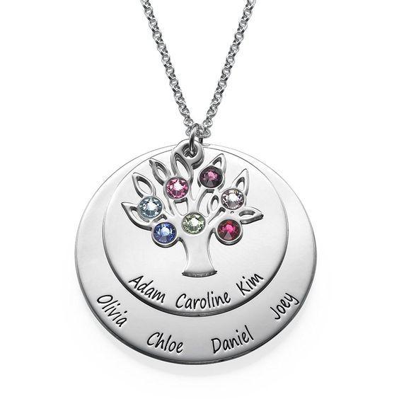 Birthstone Earrings Ideas: Grandma Birthstone Necklace
