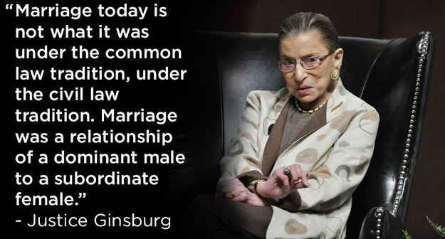 The 4 Dopest Quotes From Ruth Bader Ginsburg On Marriage Equality