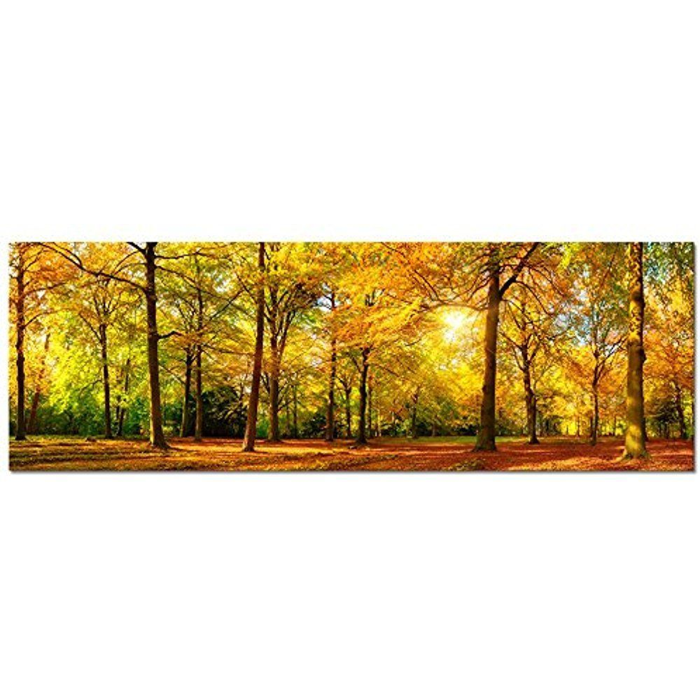 Framed] Autumn Forest Scenery Large Modern Canvas Prints Picture ...