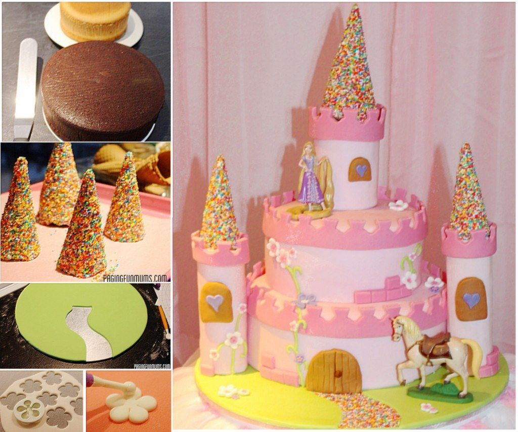 Castle Cake Ideas Easy Video Tutorial Lots of Inspiration Princess