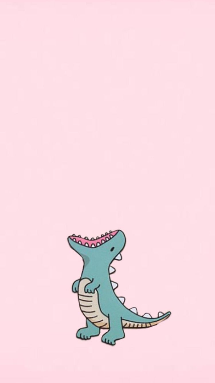 Dinosaur Wallpaper Pink And Cute Dinosaur Wallpaper Wallpaper Iphone Cute Cartoon Wallpaper