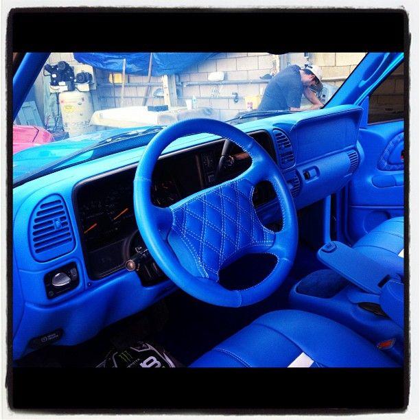 tahoe 2 door lowrider lowrod leather seats interior custom