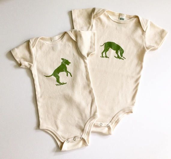 Dog Organic Cotton Short Sleeve Onesie Made In Seattle Baby Kids