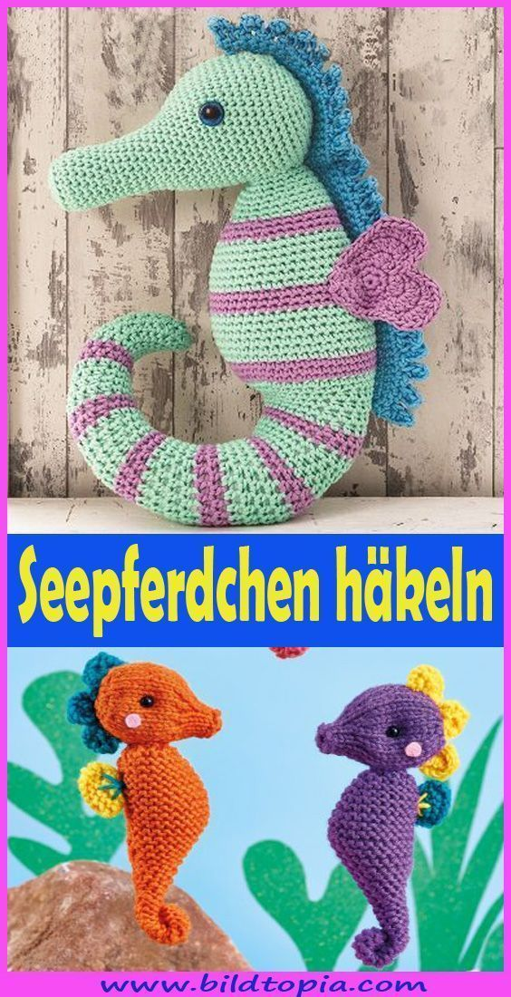 Do you want to crochet a cute amigurumi seahorse? In this free DIY An …, #Amig…