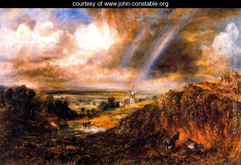 Hampstead heath with a rainbow - John Constable - www.john-constable.org