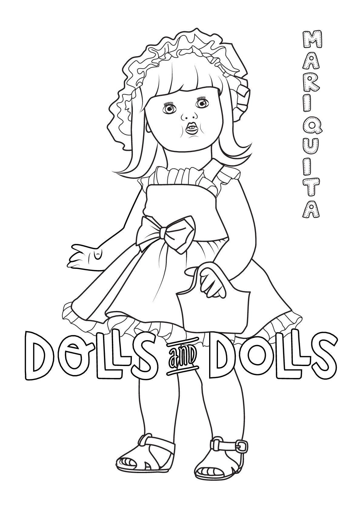 Dibujos De Munecas Para Colorear Gratis Dolls And Dolls Dibujos Para Colorear Gratis Colorear Gratis Munequitos Para Colorear