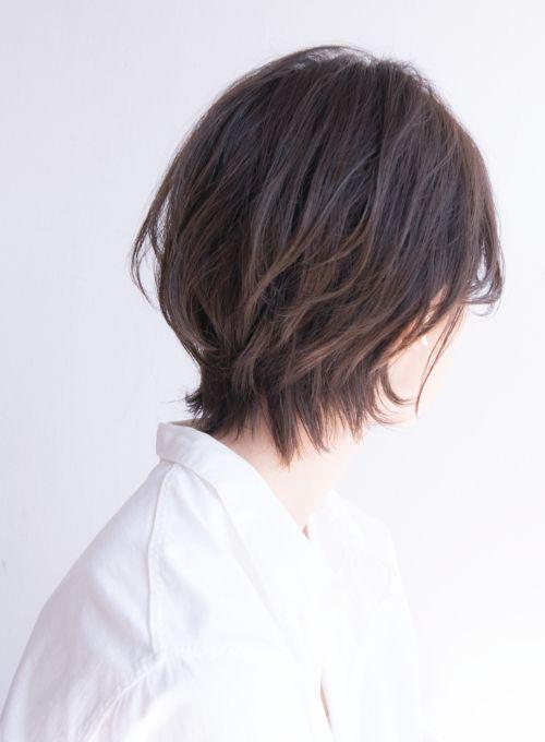 大人ヘルシーなナチュラルショートボブ 髪型ショートヘア ヘア