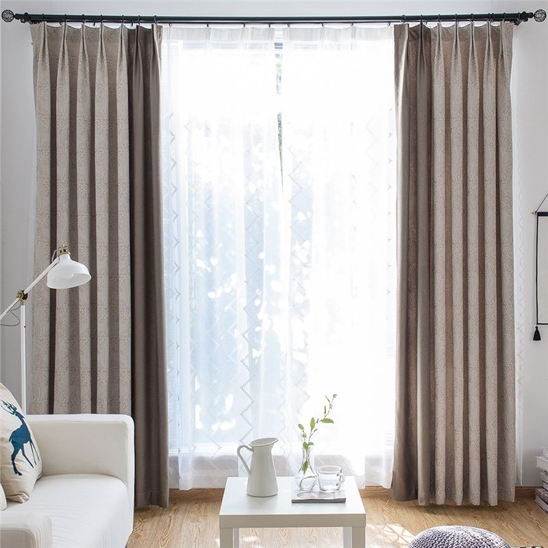 Blackout Curtain Modern European Style Decorative Abstract Feather Pattern Living Room C Curtains Living Room Living Room Decor Curtains Living Room Design Diy
