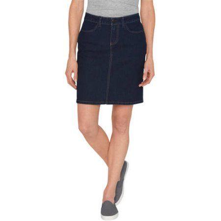 Genuine Dickies Women's Denim Skirt, Size: 14, Blue | Skirts, Blue ...