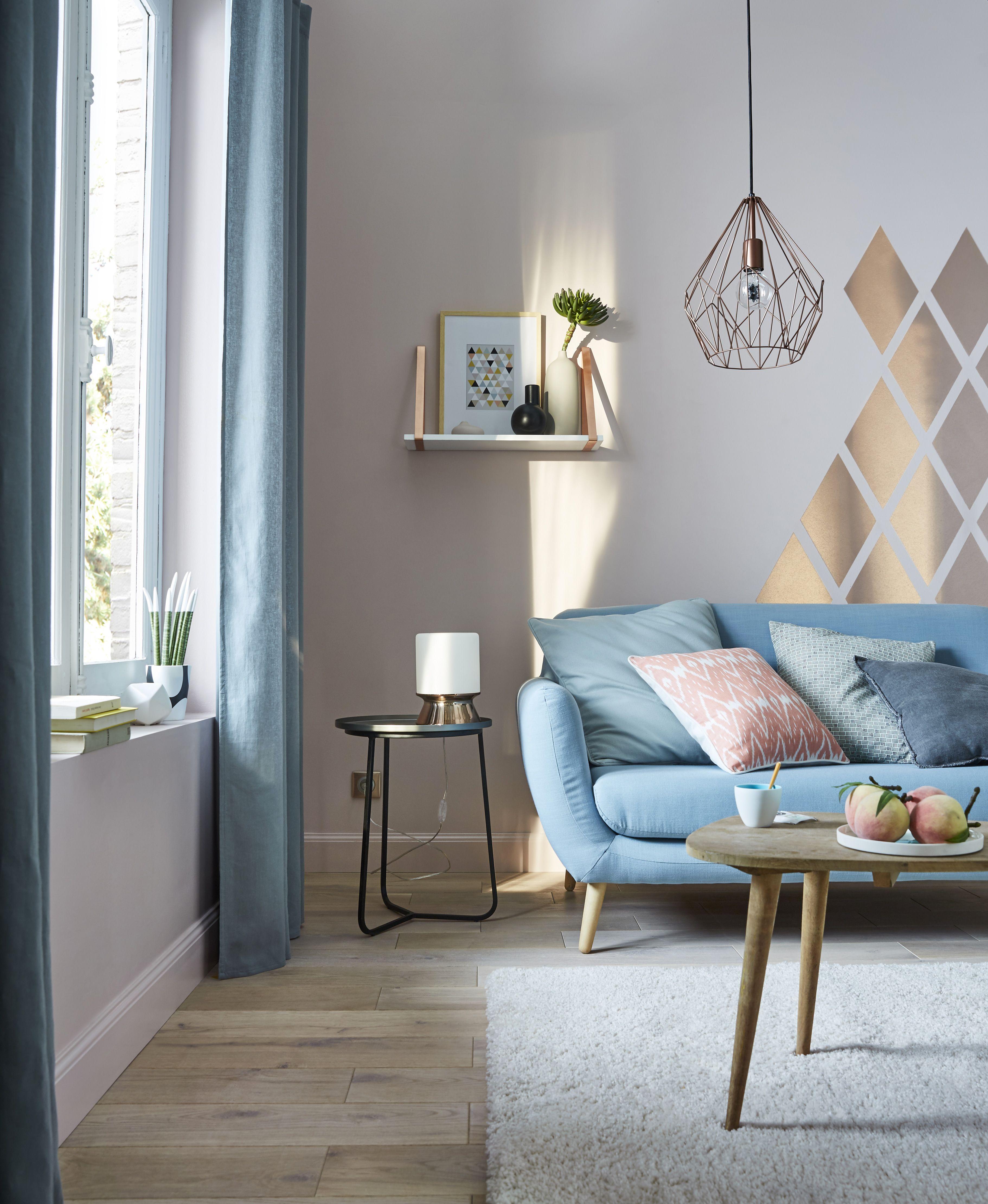 Peinture effet m tallis colours rose cuivre satin 2l salons pi ces vivre deco mural - Deco salon cuivre ...