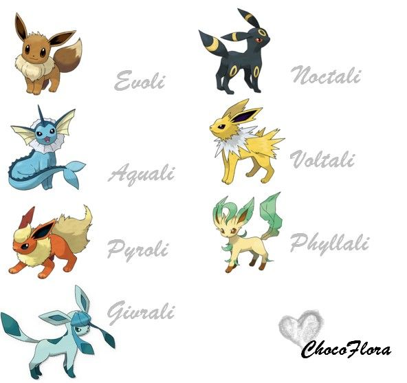 Ainsi que noctali chez voltali j 39 adore son c t - Famille evoli pokemon ...