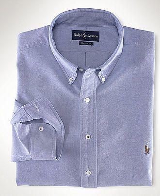 576f289e Polo Ralph Lauren Shirt, Core Classic Fit Oxford Dress Shirt - Mens Shirts  - Macy's- Size M- Blue