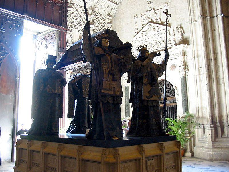 Cattedrale di Siviglia - Tomba di Cristoforo Colombo