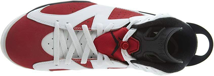 Nike Air Jordan 6 Retro, Chaussures de Sport Homme, Blanc/Rouge ...