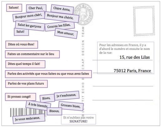 Comment Ecrire Une Carte Postale Comment Ecrire Carte Postale Carte