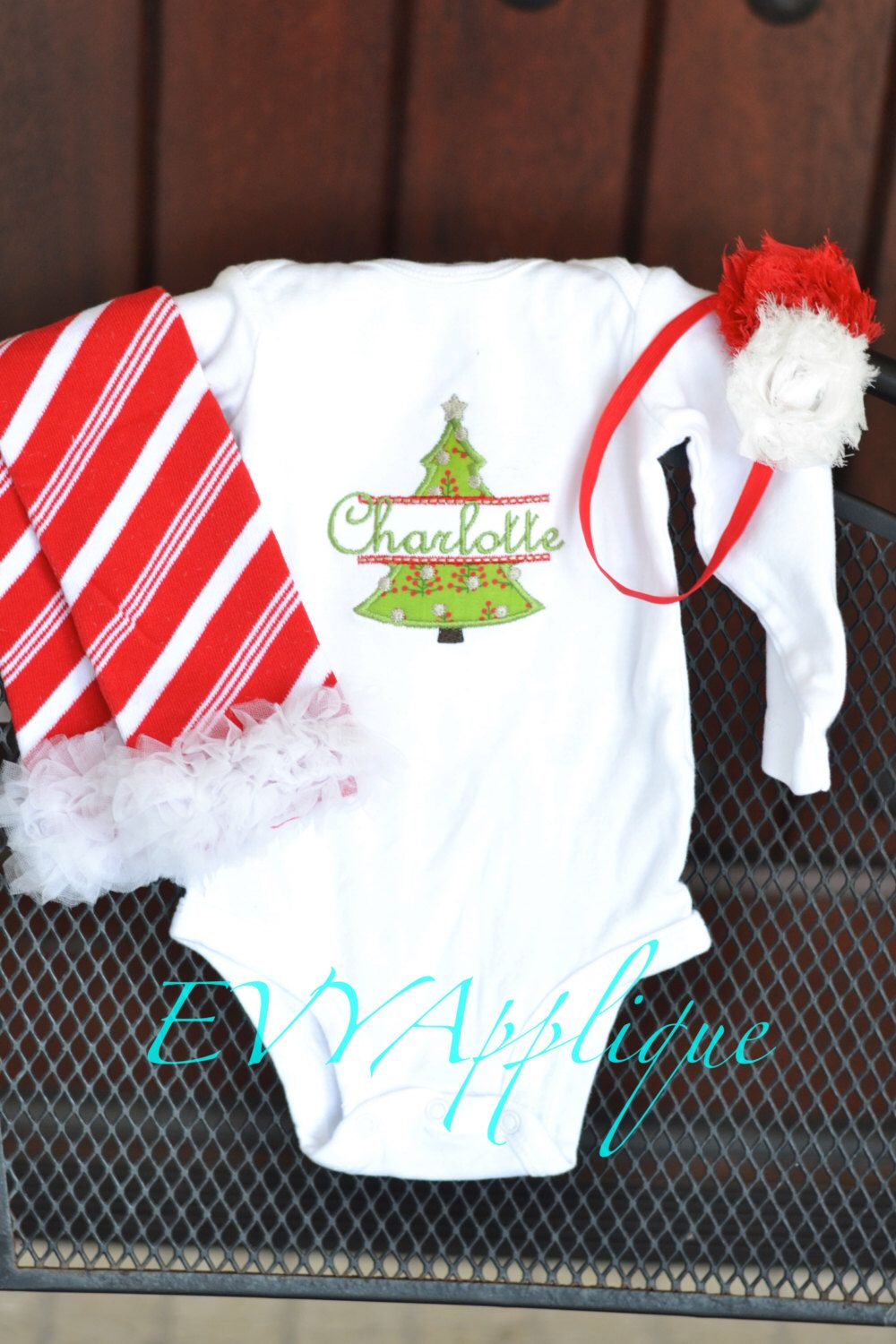 bad92224e Baby's first (1st) Christmas outfit tutu PERSONALIZED! My first christmas, Baby  girl